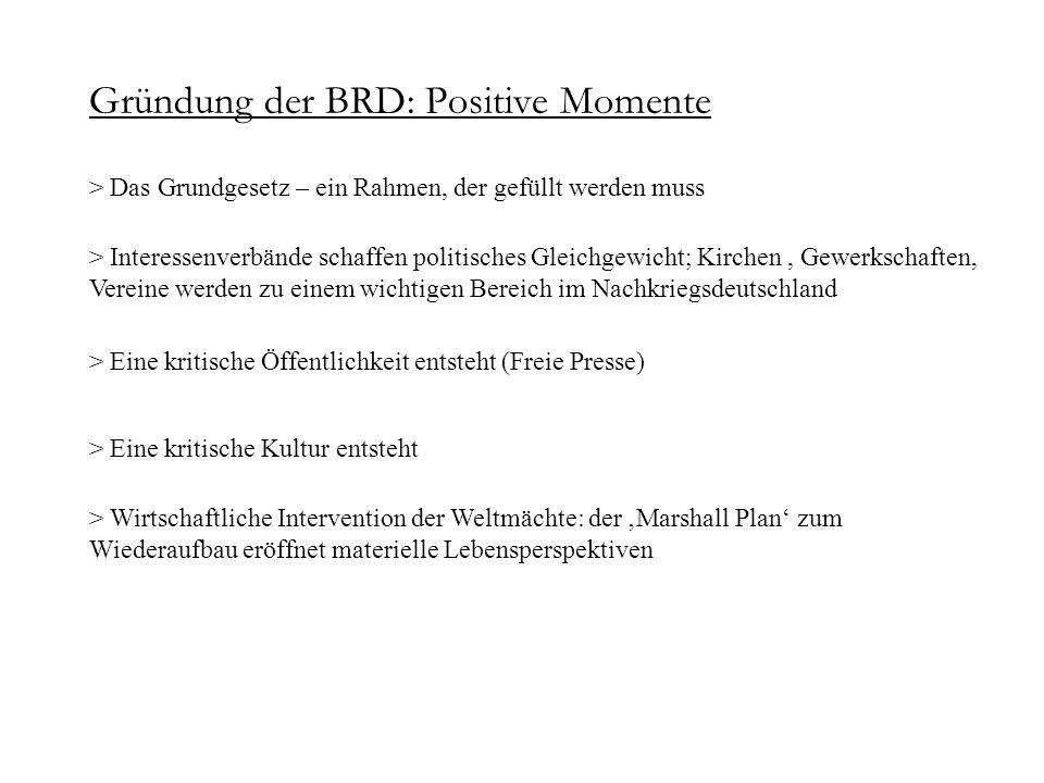 Gründung der BRD: Positive Momente > Das Grundgesetz – ein Rahmen, der gefüllt werden muss > Interessenverbände schaffen politisches Gleichgewicht; Ki