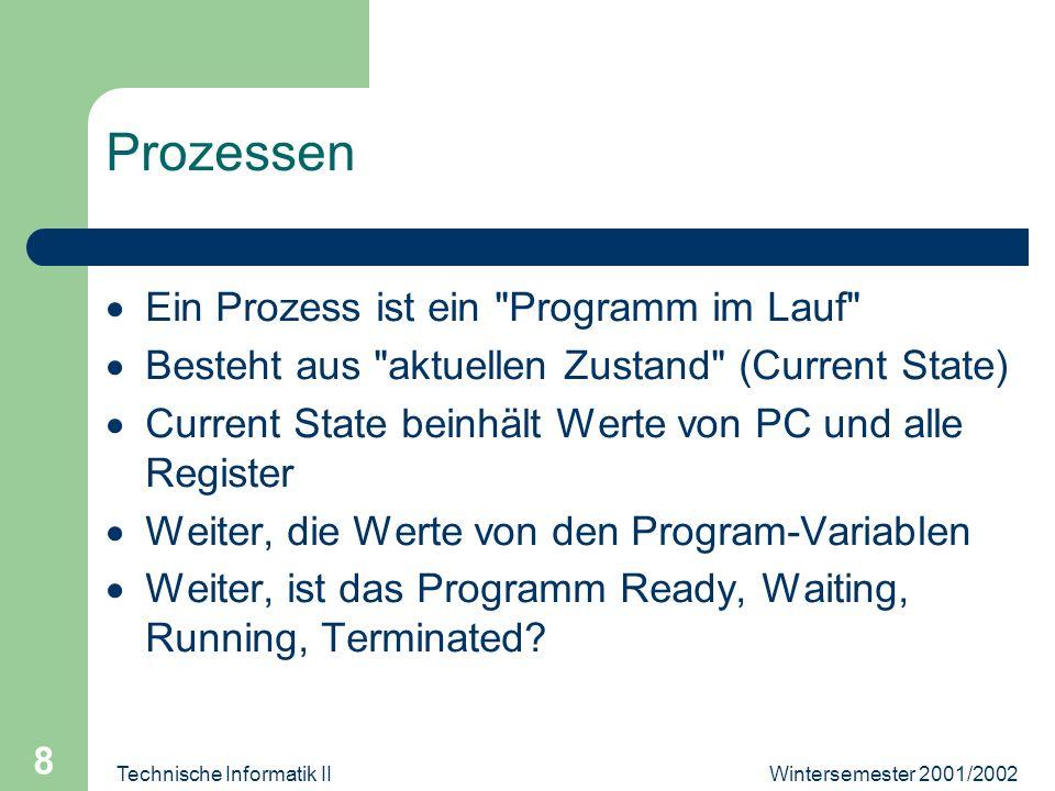 Wintersemester 2001/2002Technische Informatik II 19 Layers