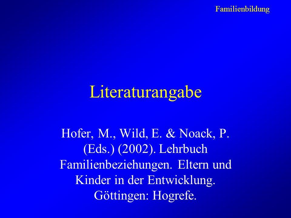 Literaturangabe Hofer, M., Wild, E.& Noack, P. (Eds.) (2002).