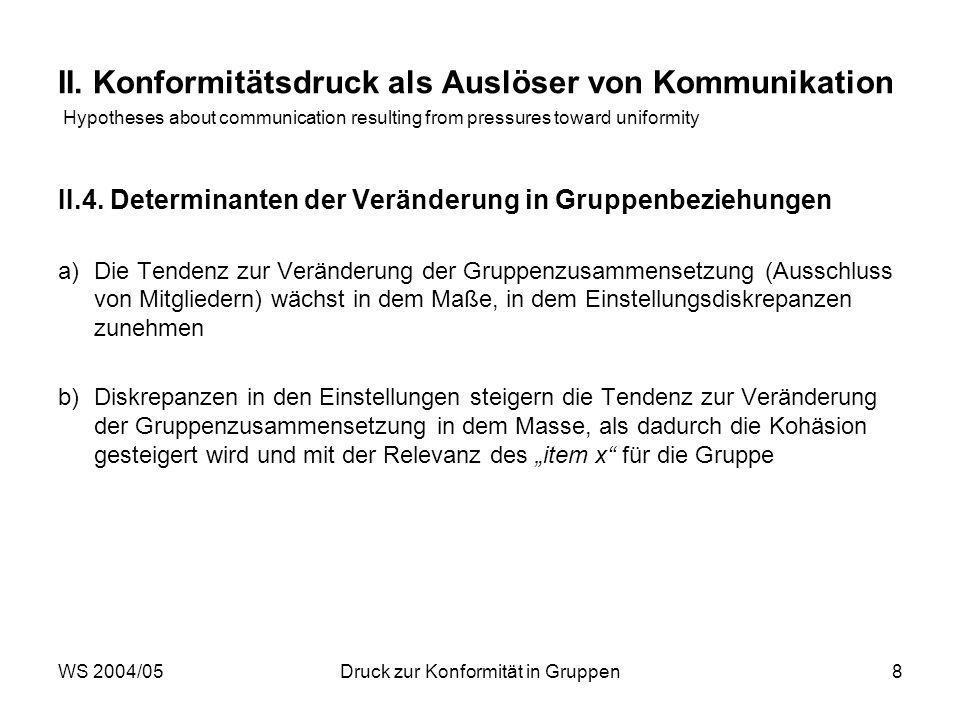 WS 2004/05Druck zur Konformität in Gruppen8 II.