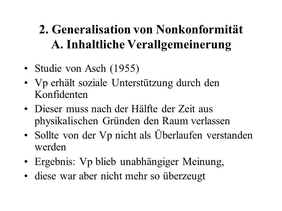 2.Generalisation von Nonkonformität A.