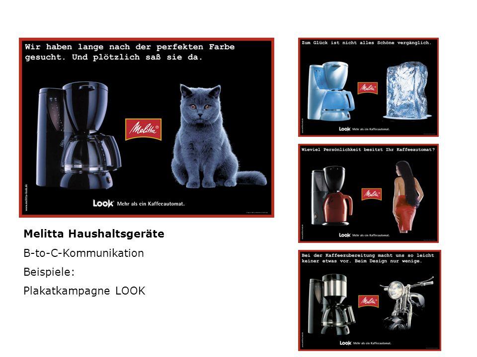 Melitta Haushaltsgeräte B-to-C-Kommunikation Beispiele: Plakatkampagne LOOK