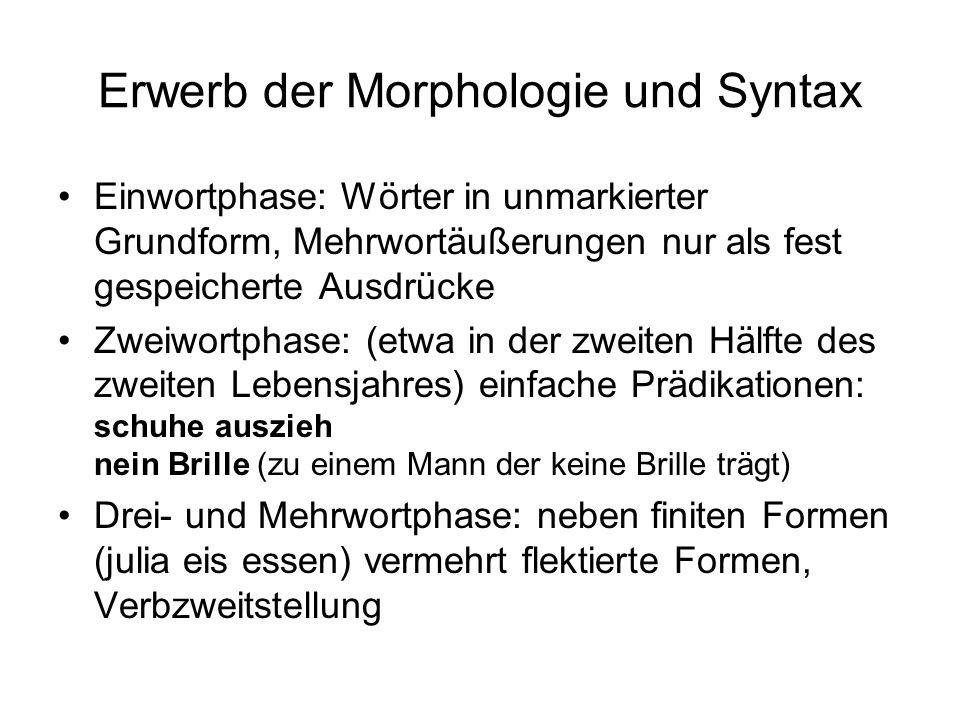 Theorien des Spracherwerbs 2.