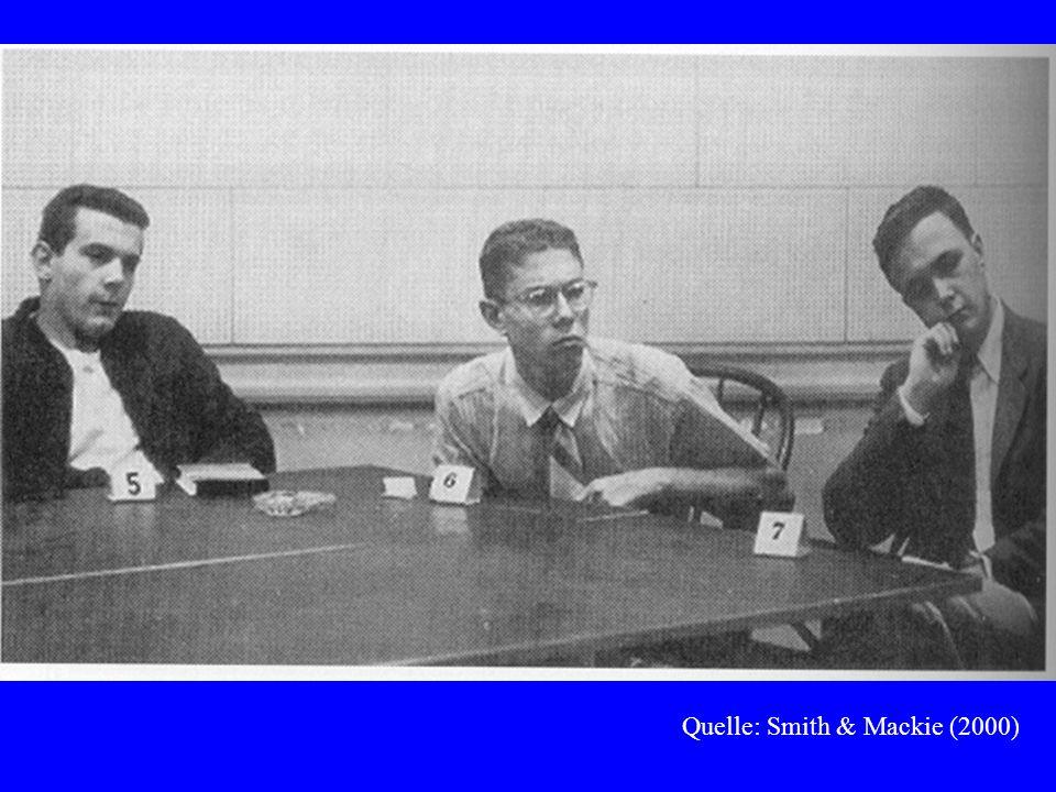© Gerd Bohner 2001 Ergebnisse bei Asch (1956): Fragestellungen in Folgestudien: –normativer Einfluss (beruhend auf Wunsch nach Akzeptanz) oder informativer Einfluss (Glaube an Richtigkeit der Mehrheitsantworten; Deutsch & Gerard, 1955).