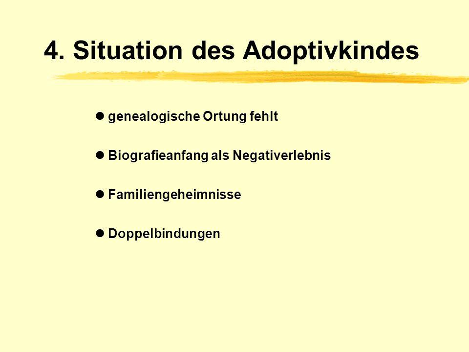 3.6. Anforderungen u. Befindlichkeit Sorgen der Adoptiveltern Abbruchraten bei Adoption Probleme und Entwicklungsverzögerungen Anforderungen an Adopti
