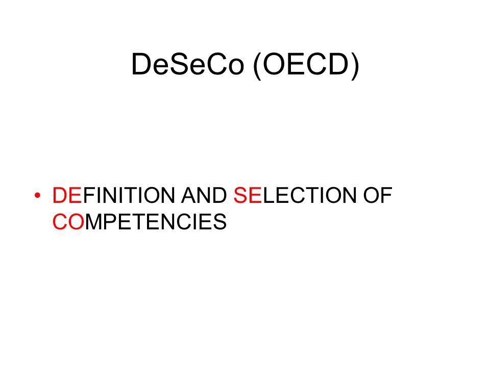 Die OECD Bildungsminister Nachhaltige Entwicklung und sozialer Zusammenhalt hängen entscheidend von den Kompetenzen der gesamten Bevölkerung ab - wobe