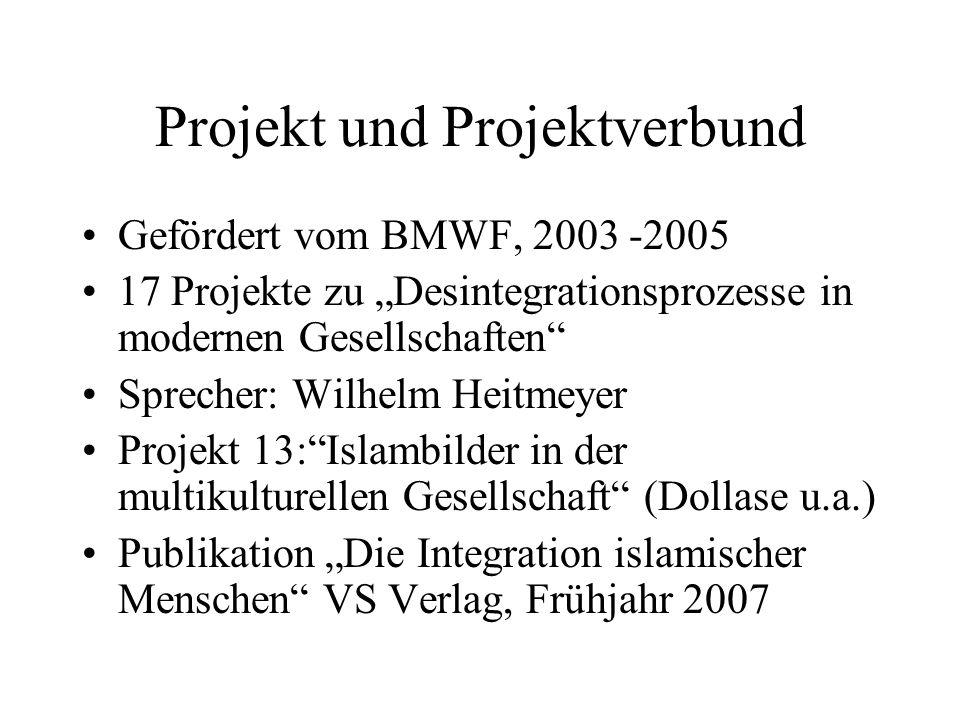 Projekt und Projektverbund Gefördert vom BMWF, 2003 -2005 17 Projekte zu Desintegrationsprozesse in modernen Gesellschaften Sprecher: Wilhelm Heitmeye