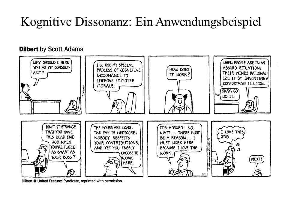 Kognitive Dissonanz: Ein Anwendungsbeispiel