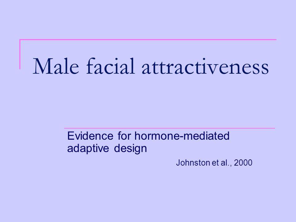 Male facial attractiveness Evidence for hormone-mediated adaptive design Johnston et al., 2000