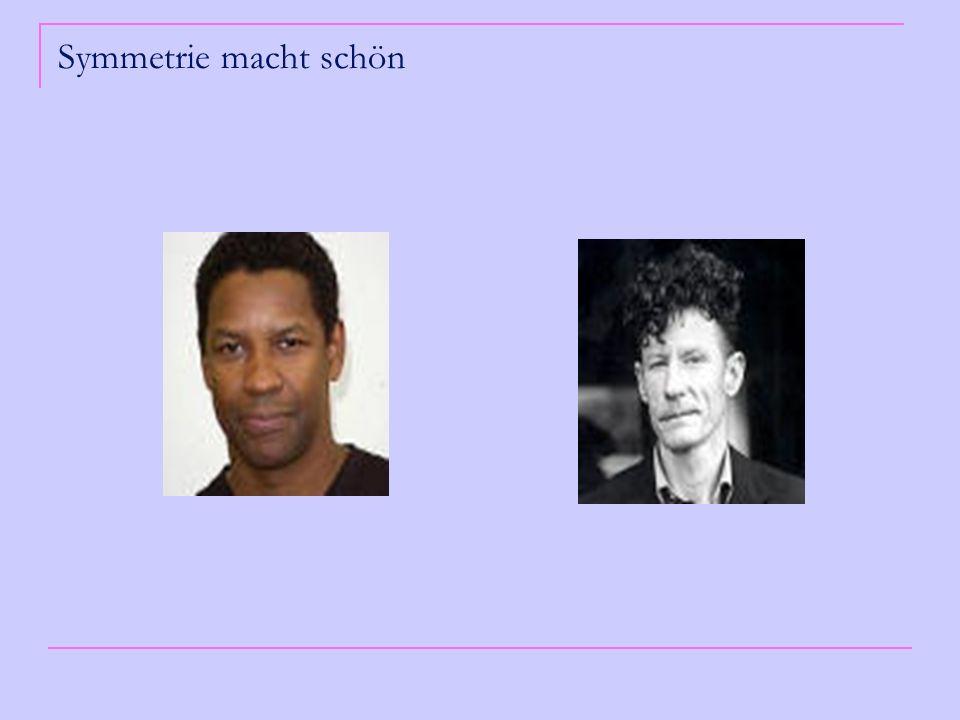 Warum finden wir symmetrische Gesichter schöner als asymmetrische.