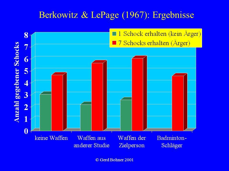 © Gerd Bohner 2001 Berkowitz & LePage (1967): Ergebnisse