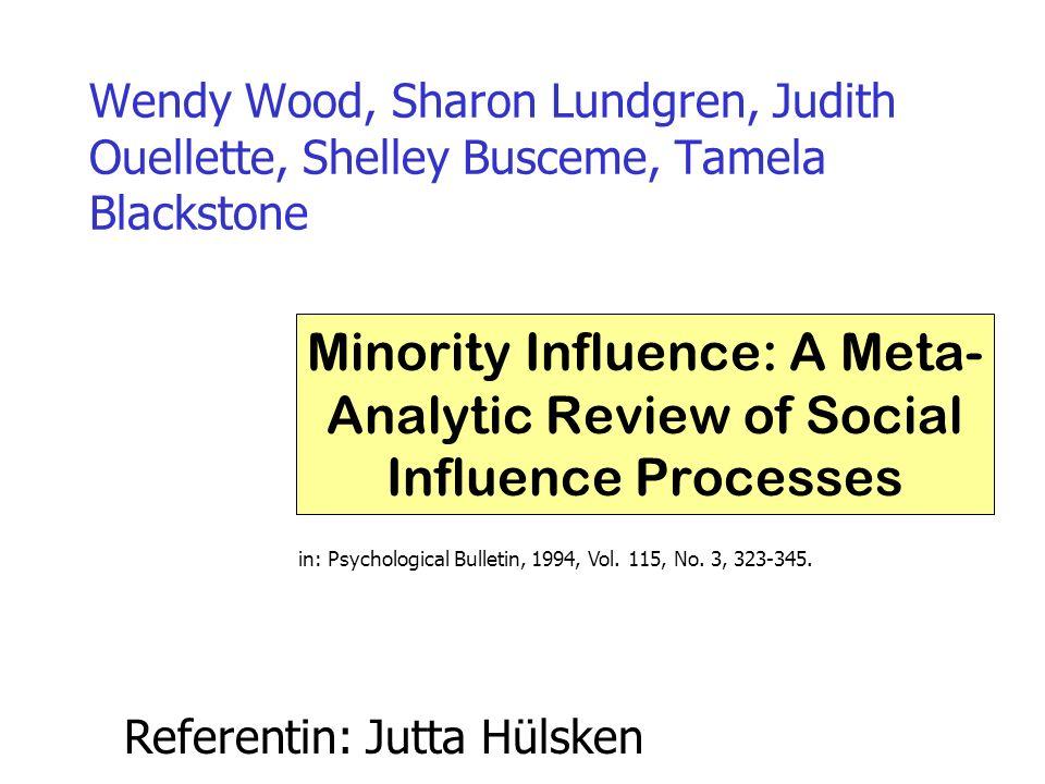 Grundlegende Fragestellung Unter welchen Umständen erlangen Minderheiten Einfluss.