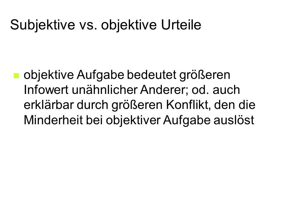 Subjektive vs.