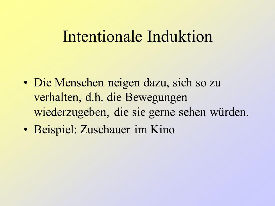 Perzeptuelle Induktion Die Handlung bzw.