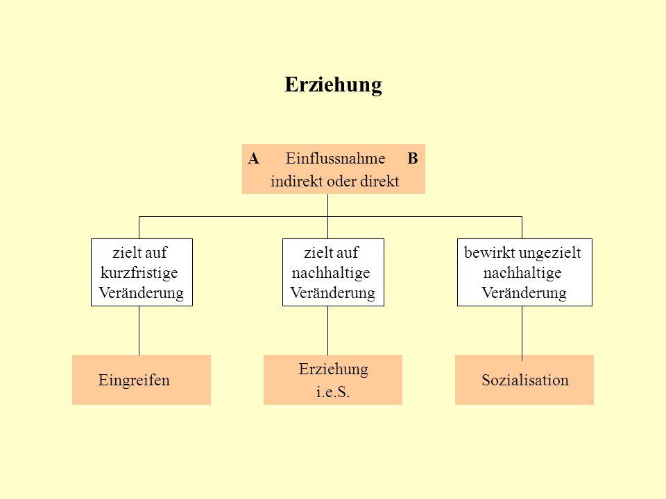 Unterschiedliche Blickwinkel auf das Thema Erziehung Alltagsverständnis von Erziehung Theoretische Konzepte der Erziehung Empirische Herangehensweise an Erziehung