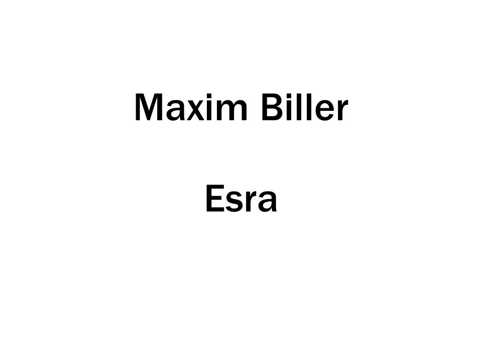 Maxim Biller Esra