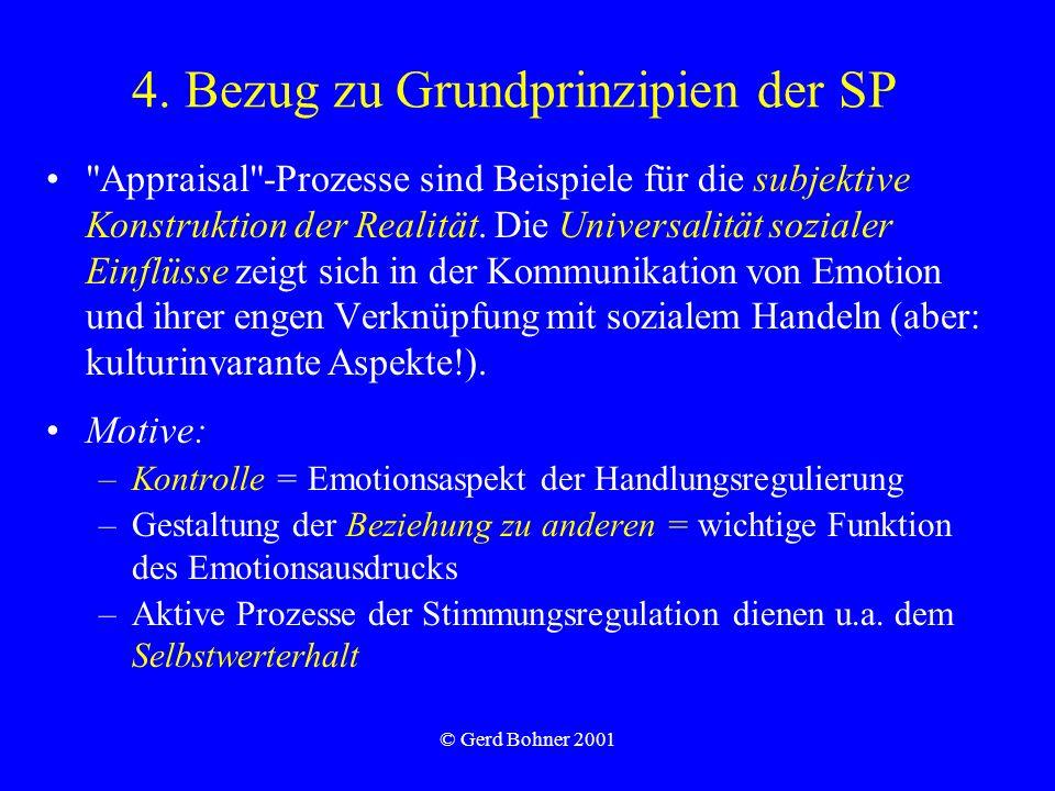 © Gerd Bohner 2001 4. Bezug zu Grundprinzipien der SP