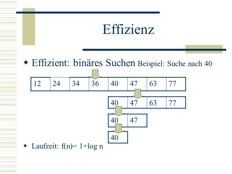 Effizienz Elementaroperationen: Vergleich zweier Zahlen Die 4 arithmetischen Operationen Normale Mathematische Funktionen Elementaroperationen im Beis