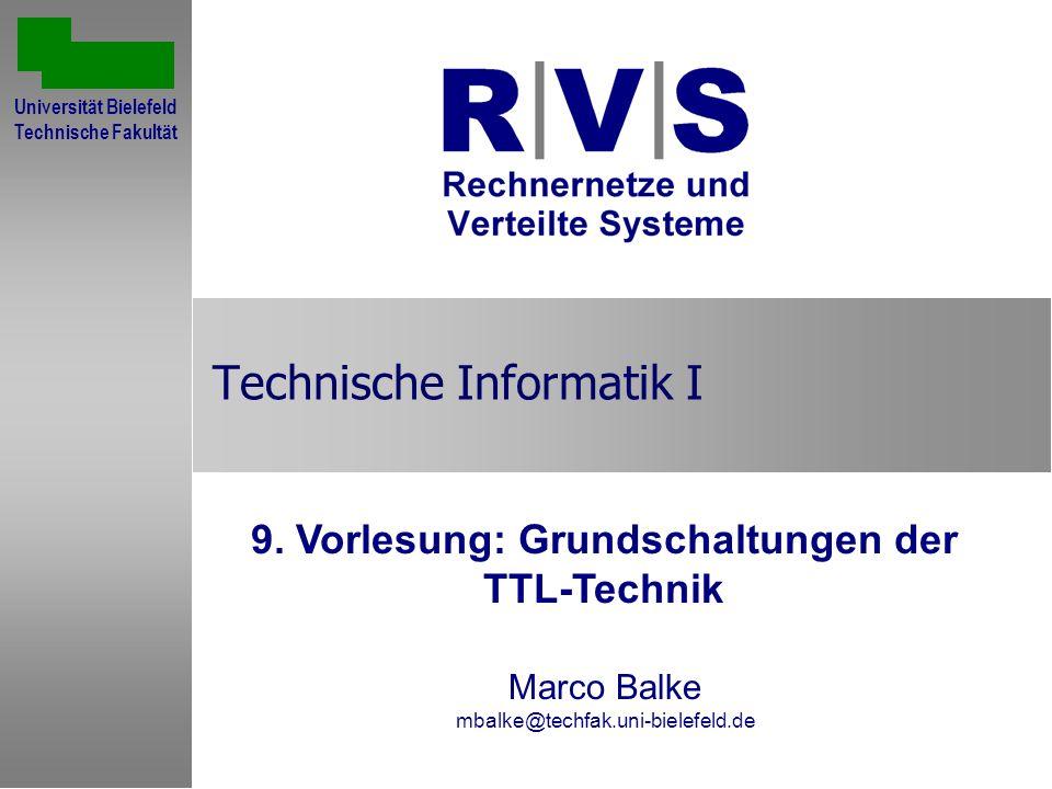 June 27, 2002Technische Informatik I: Vorlesung 9, TTL Technik2 Übersicht Inverter Passives ODER-Gatter Passives und aktives UND-Gatter NAND-Gatter Gegentaktendstufe
