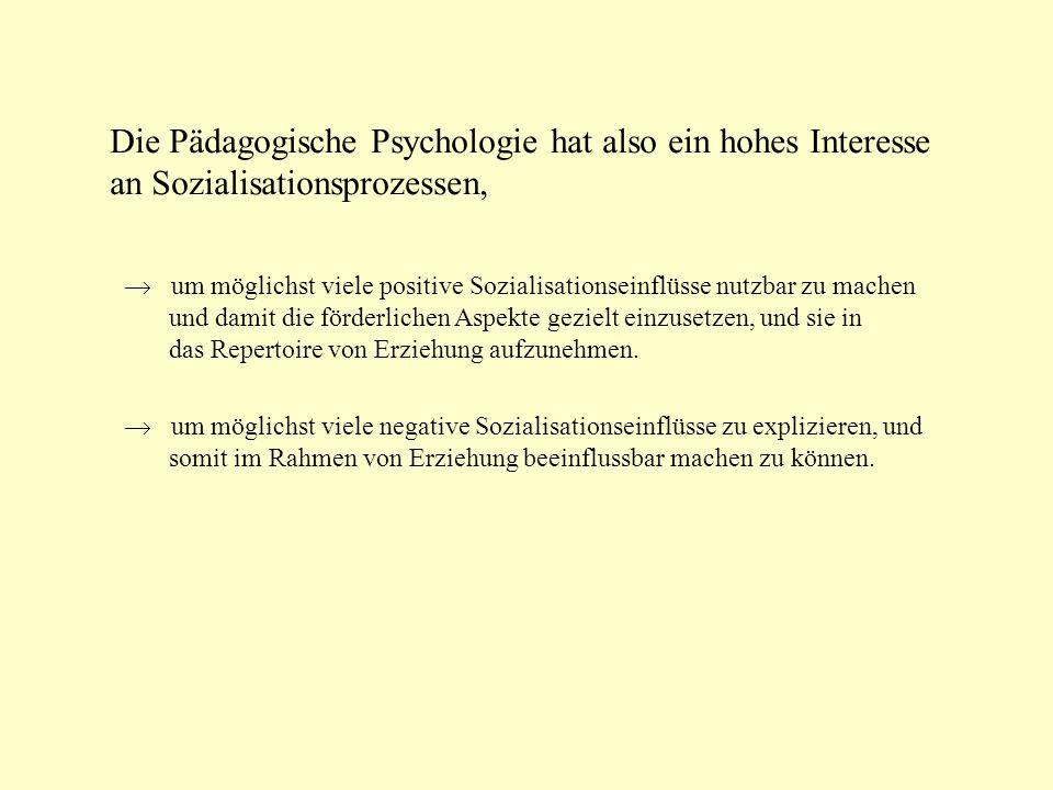 Perspektiven der Sozialisationsforschung Ökologische Teilsysteme Familie, Schule...