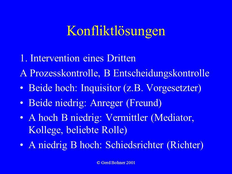 © Gerd Bohner 2001 Konfliktlösungen 1.