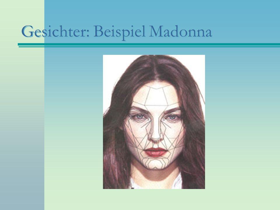 Gesichter: Beispiel Madonna