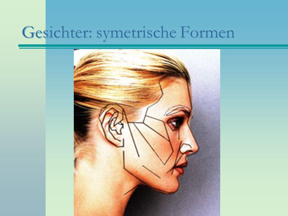 Gesichter: symetrische Formen