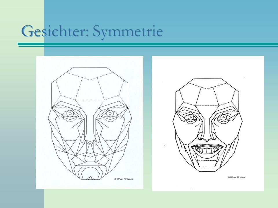 Gesichter: Symmetrie