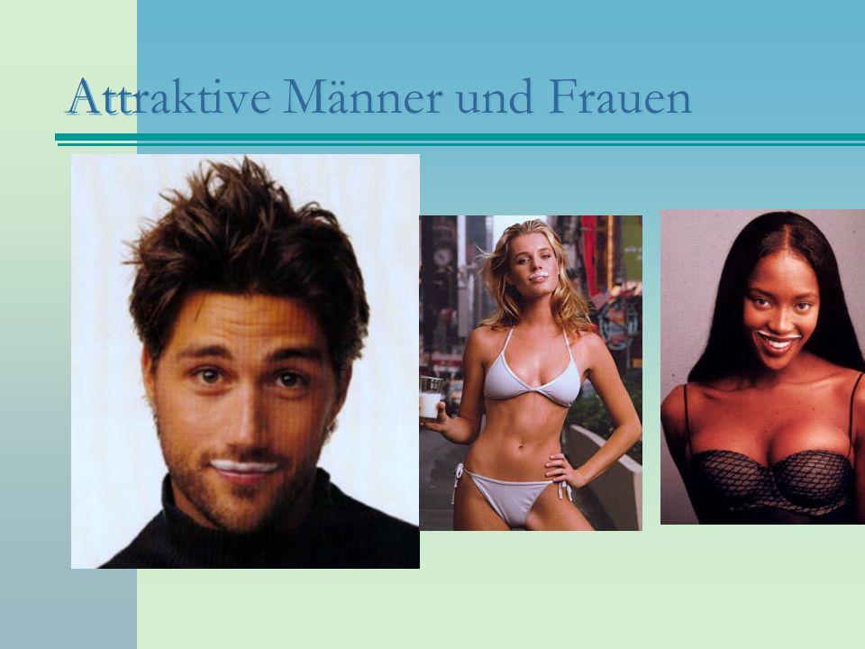 Attraktive Männer und Frauen