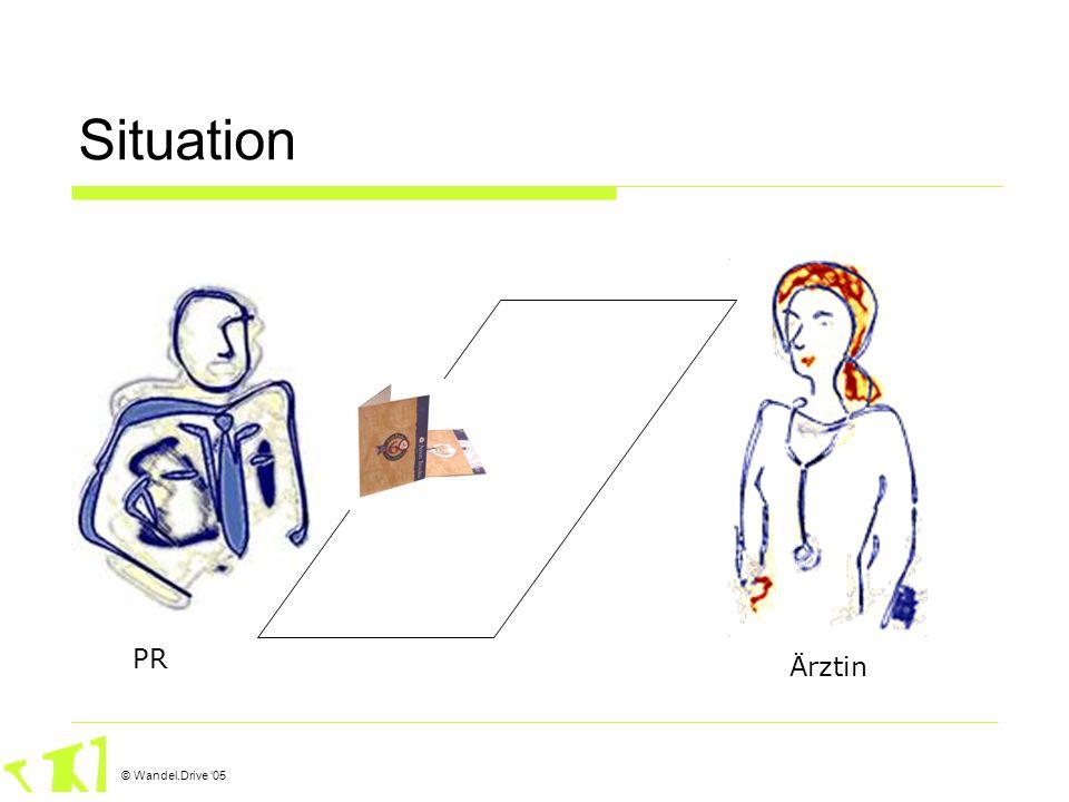 © Wandel.Drive 05 Situation: Pharmareferent Meist geibldete Leute, eigentlich Lehrer Umsatzdruck keine neuen Aussagen oft gerne gesehen.