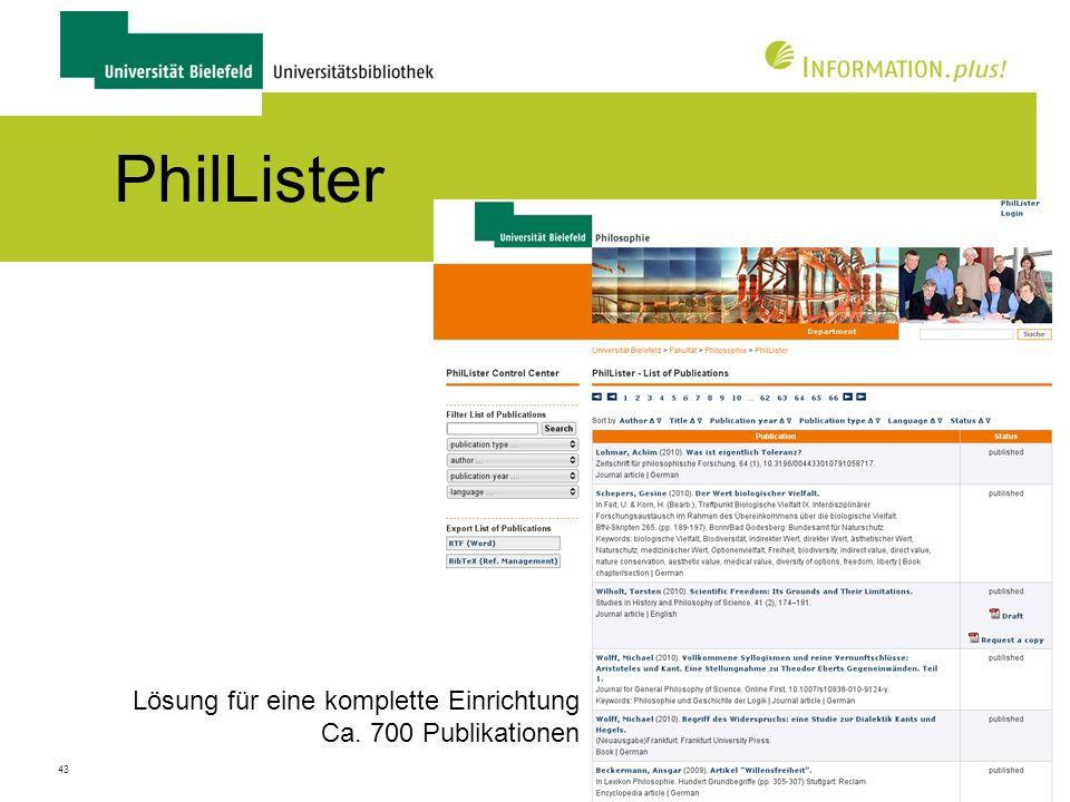 44 PhilLister Anfrage für eine Reprint