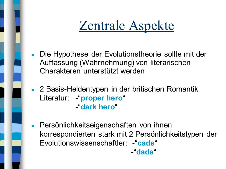 Werbeverhalten in der britischen Literatur Proper And Dark Heroes As Dads And Cads: Alternative Mating Strategies in British Romantic Literature Kruge