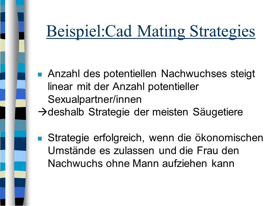 Cads and Dads Mating Strategies Obwohl die meisten Menschen auf eine LZB mit einem Mann der in die Elternschaft investiert, aus sind, gibt es auch Asp
