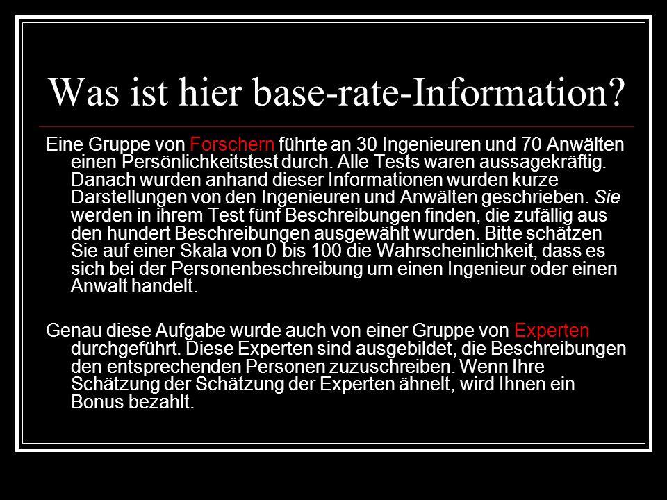 Ein Beispiel für eine beschreibende Information Hans K.