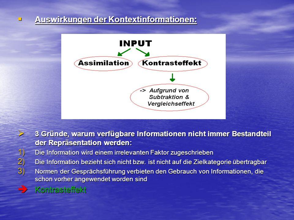 Substraktion: Positiv oder negativ bewertete Informationen werden ausgeschlossen.