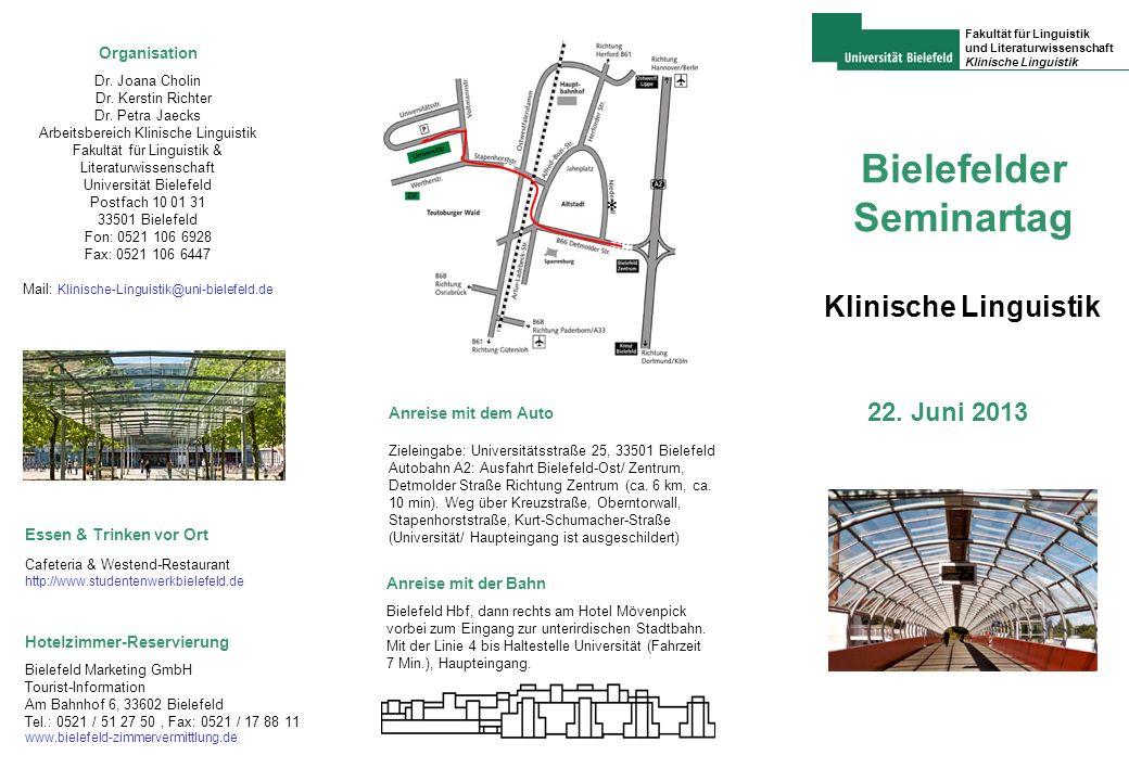Bielefelder Seminartag Klinische Linguistik 22.