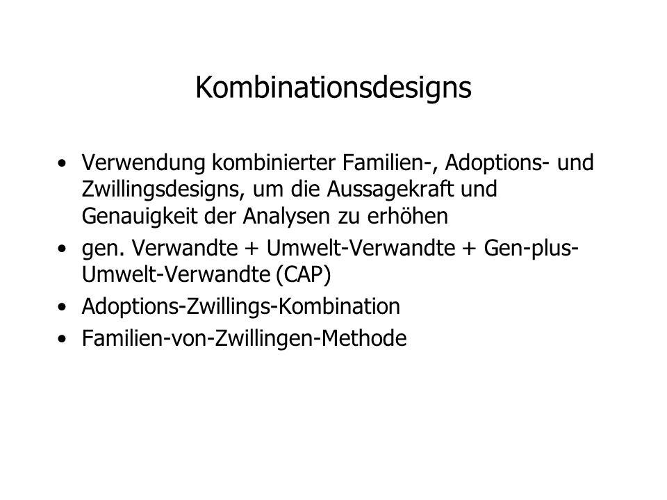 Kombinationsdesigns Verwendung kombinierter Familien-, Adoptions- und Zwillingsdesigns, um die Aussagekraft und Genauigkeit der Analysen zu erhöhen gen.