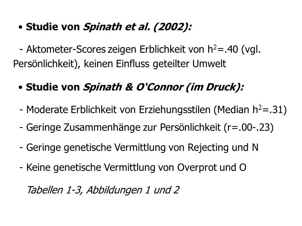 Studie von Neiss et al (2002): Studie von Waller und Shaver (1994): - Unbedeutende genetische Einflüsse auf romantische Liebesbeziehungen (2 Tabellen).