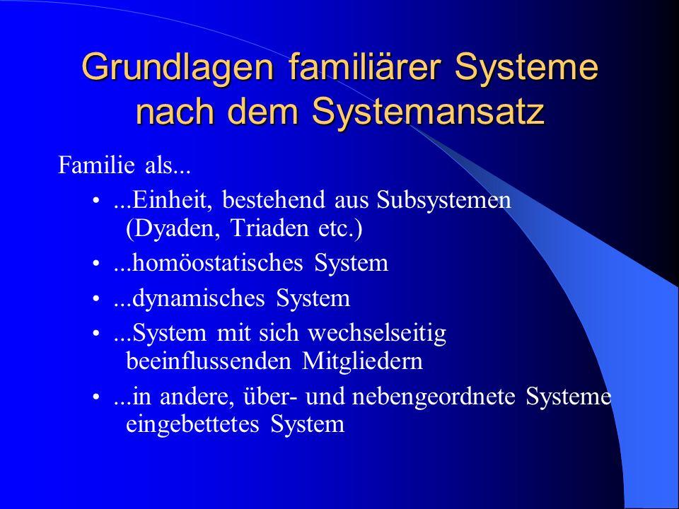 Der Systemansatz in der Familienpsychologie