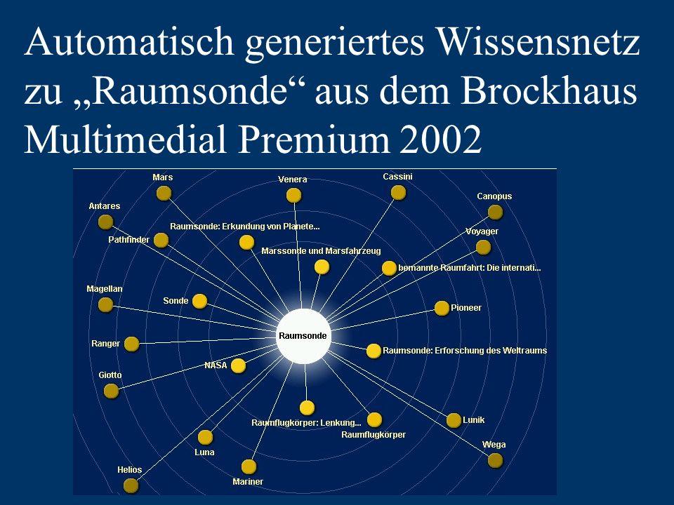 Automatisch generiertes Wissensnetz zu Raumsonde aus dem Brockhaus Multimedial Premium 2002