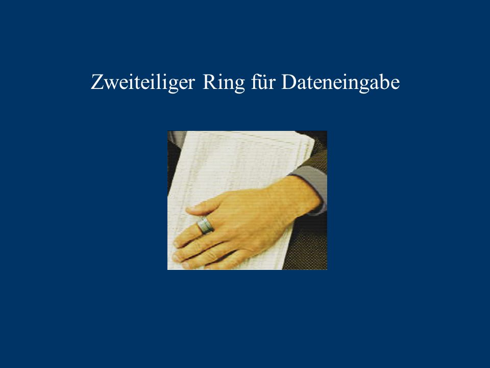 Zweiteiliger Ring für Dateneingabe