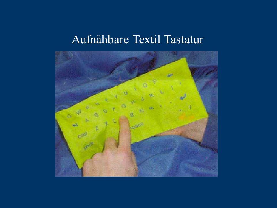 Aufnähbare Textil Tastatur