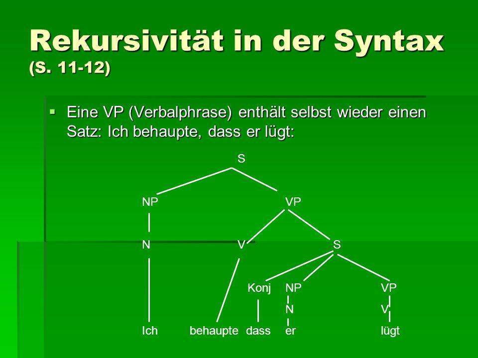 Rekursivität in der Syntax (S.