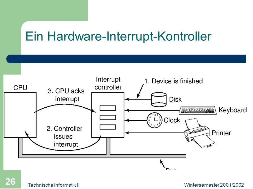 Wintersemester 2001/2002Technische Informatik II 26 Ein Hardware-Interrupt-Kontroller