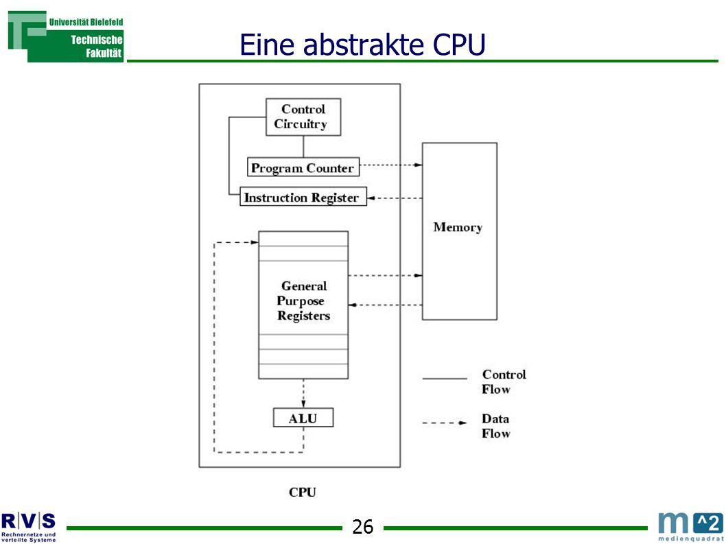 26 Eine abstrakte CPU