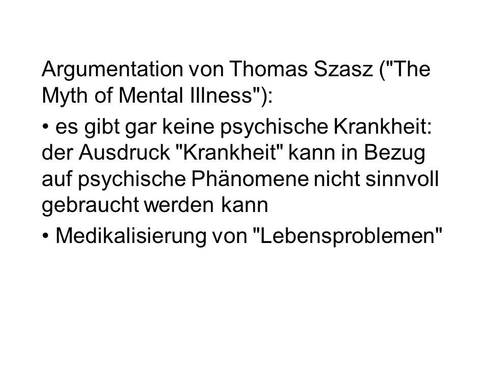 Argumentation von Thomas Szasz (
