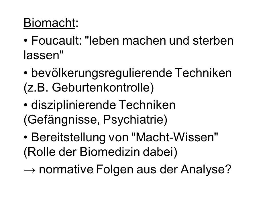Biomacht: Foucault: