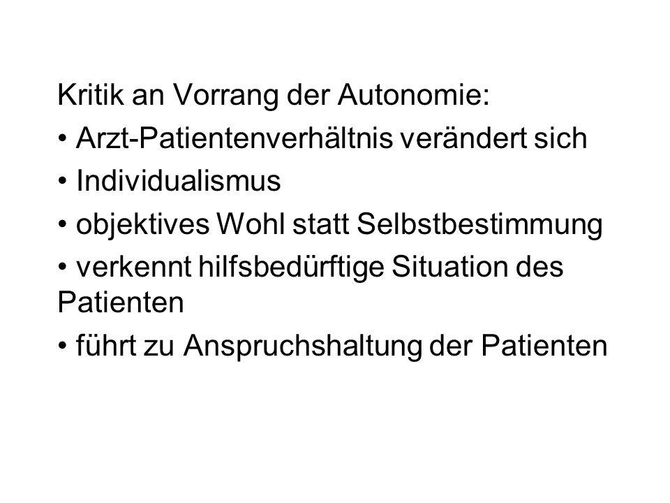 Informiertes Einverständnis: Kompetenz Freiwilligkeit Informiertheit Zustimmung (bewusste Autorisierung)