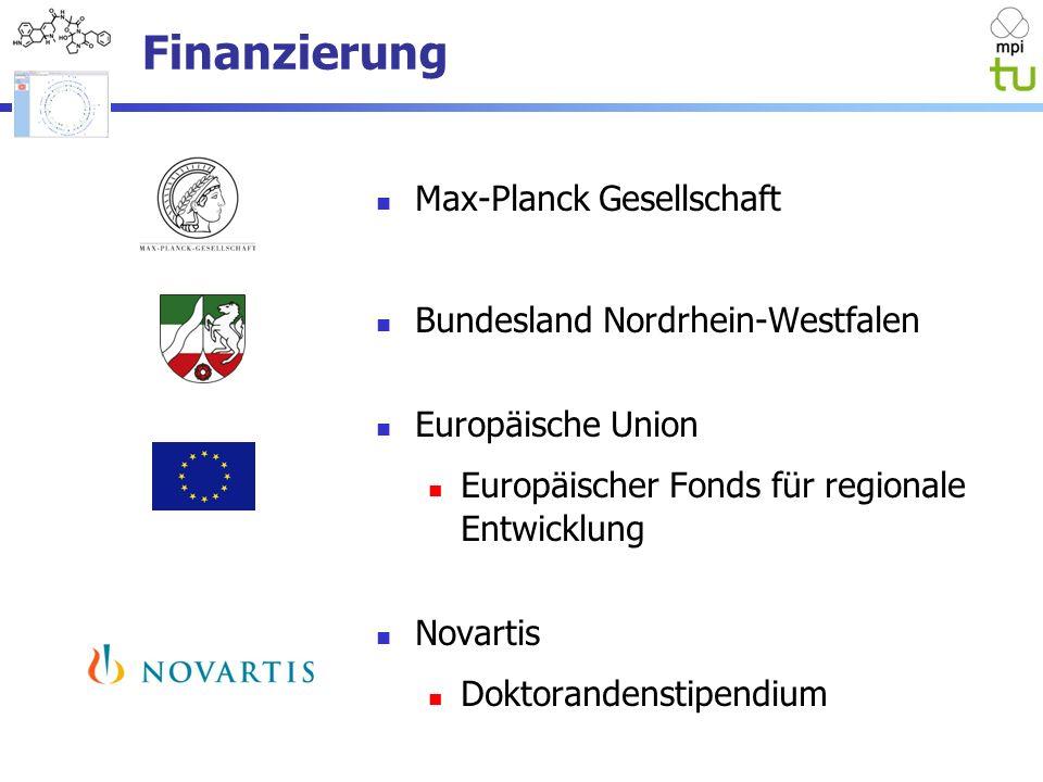 Finanzierung Max-Planck Gesellschaft Bundesland Nordrhein-Westfalen Europäische Union Europäischer Fonds für regionale Entwicklung Novartis Doktorandenstipendium