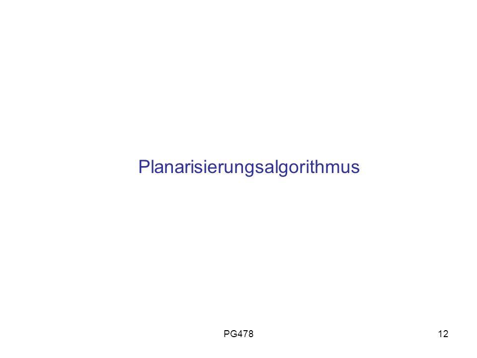 PG47812 Planarisierungsalgorithmus